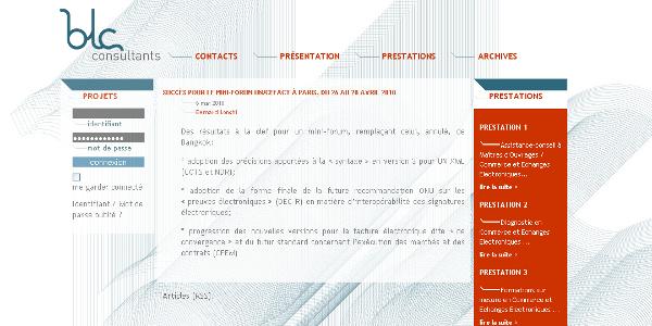 Site web BLC-Consultants