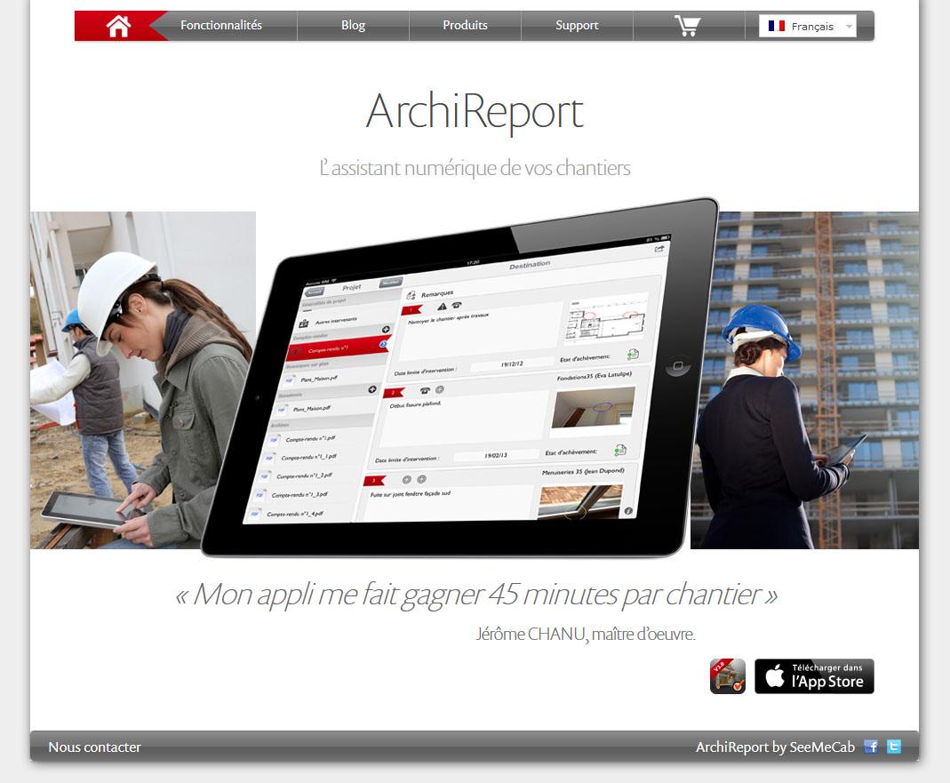 Archireport - L'assistant numérique de vos chantiers 1